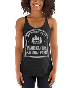 RV There Yet? Grand Canyon National Park Racerback Tank (Women's) Vintage Black