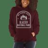 RV There Yet? Glacier National Park Hooded Sweatshirt (Unisex) Maroon