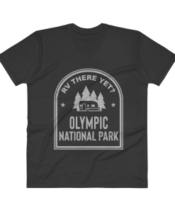 RV There Yet? Olympic National Park V-Neck (Men's) Black