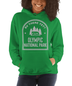 RV There Yet? Olympic National Park Hooded Sweatshirt (Unisex) Irish Green