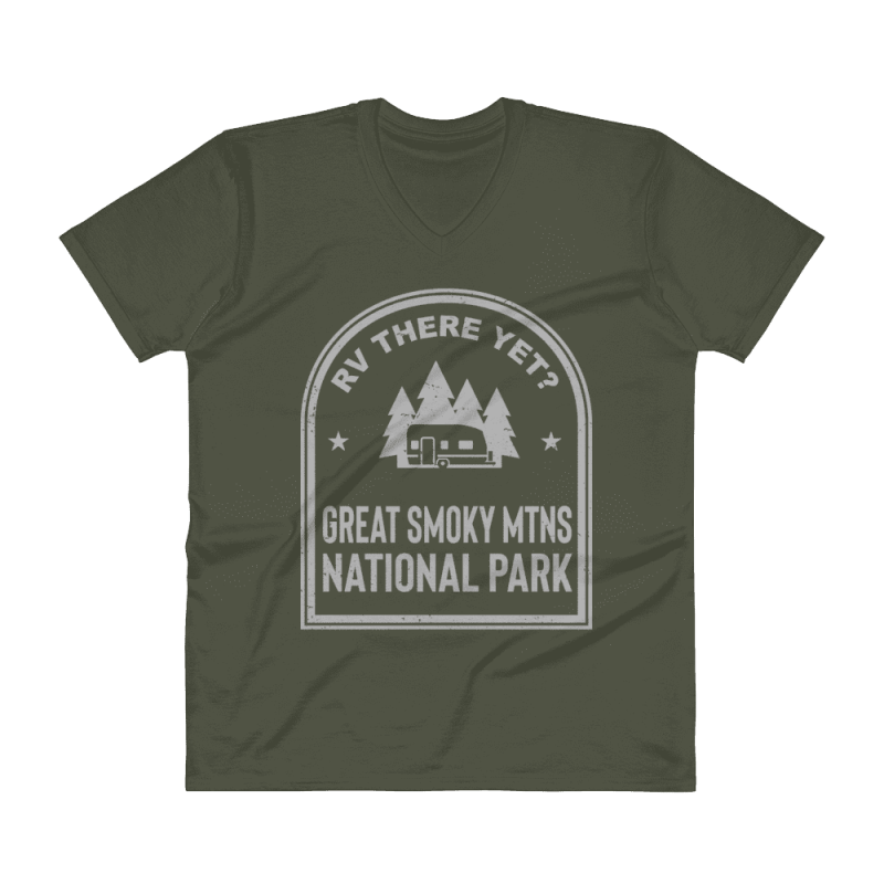 RV There Yet? Great Smoky Mtns National Park V-Neck (Men's)