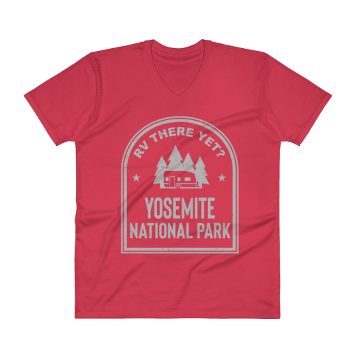RV There Yet? Yosemite National Park V-Neck (Men's) Red