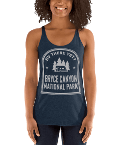 RV There Yet? Bryce Canyon National Park Racerback Tank (Women's) Vintage Navy