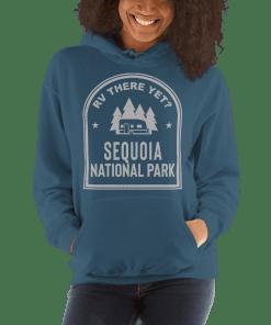 RV There Yet? Sequoia National Park Hooded Sweatshirt (Unisex) Indigo Blue