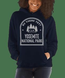 RV There Yet? Yosemite National Park Hooded Sweatshirt (Unisex) Navy