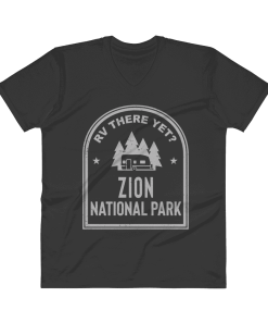 RV There Yet? Zion National Park V-Neck (Men's) Black