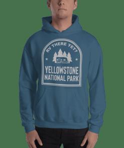 RV There Yet? Yellowstone National Park Hooded Sweatshirt (Unisex) Indigo Blue