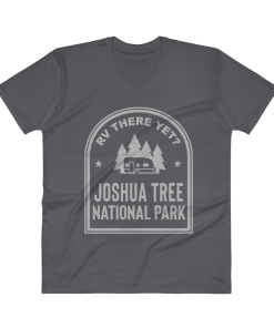 RV There Yet? Joshua Tree National Park V-Neck (Men's) Charcoal