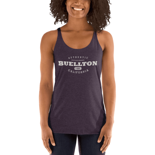 Authentic Buellton Racerback Tank (Women's) Vintage Purple