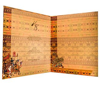Indian Wedding Invitations In Traditional Design Colors
