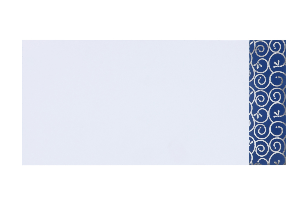 wedding invitation in royal blue and