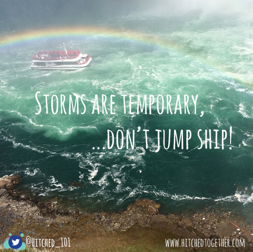 Storms are temporary, don't jump ship. Studies have proved that divorce is not the path to happiness for those who find themselves in a marriage filled with pain. Couples who stay committed to their covenant are far more likely to overcome their problems and enjoy a happy fulfilling relationship. If your marriage is struggling, or even if it isn't, we can help you apply bible-based principles that will improve your relationship. Contact us for relationship mentoring options.