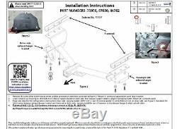 Trailer Tow Hitch For 15-17 Lexus Nx200t All Styles With