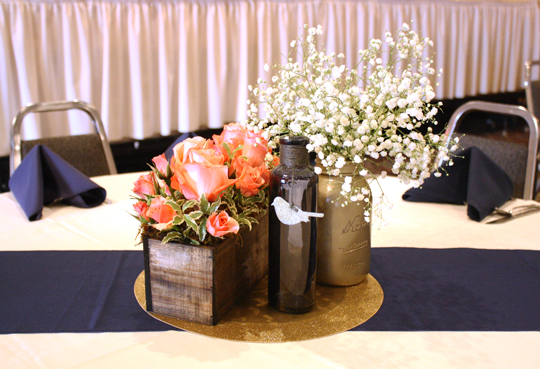 Navy Rustic Wedding Invitations