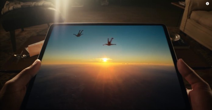 iPad Pro Skydiving Image