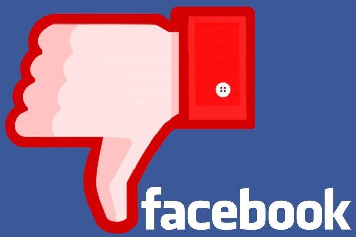Facebook Thumbs Down - Image by Hermann Traub