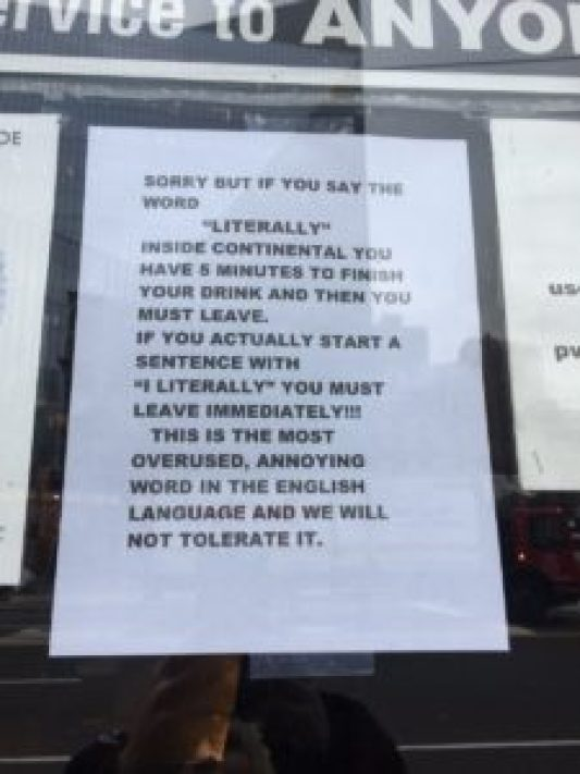 Continental East Village Bar will Throw you Out If you use this Common English word 1