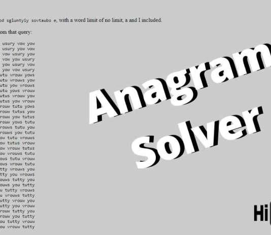 Anagram Solver Word Breaker Find