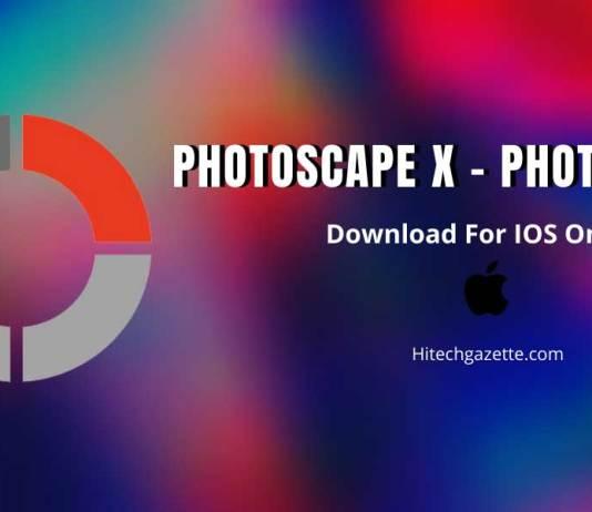 Photoscape X Photo Editing App