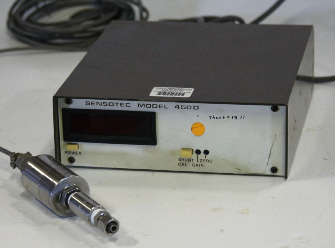 Sensotec 450D Pressure Readout with Sensor