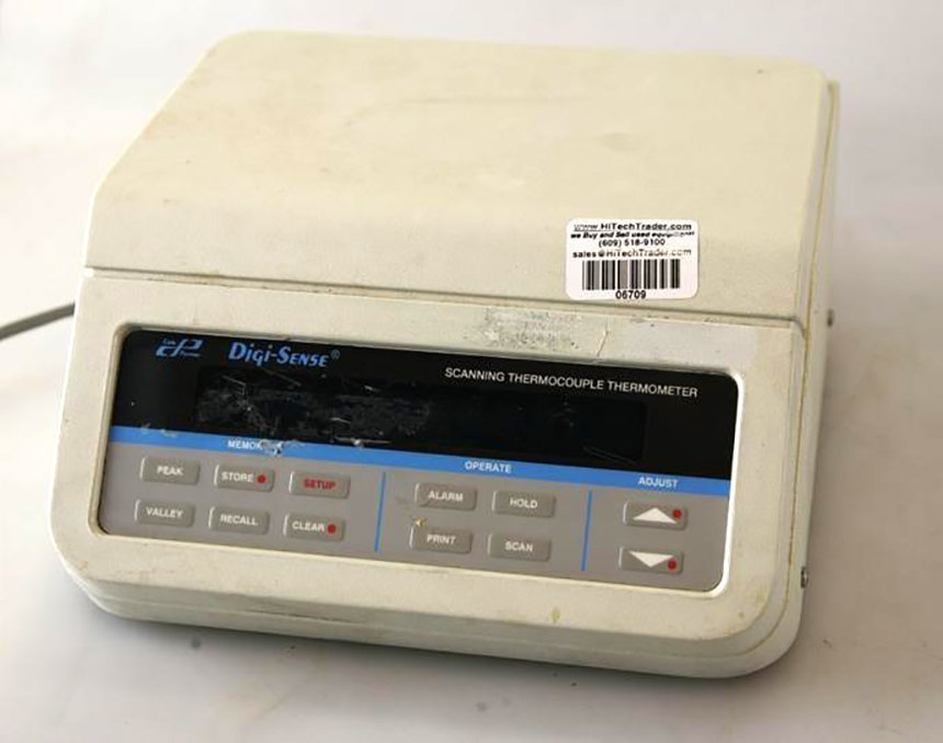 Cole Parmer Scanning Thermocouple Thermometer Model Digi Sense
