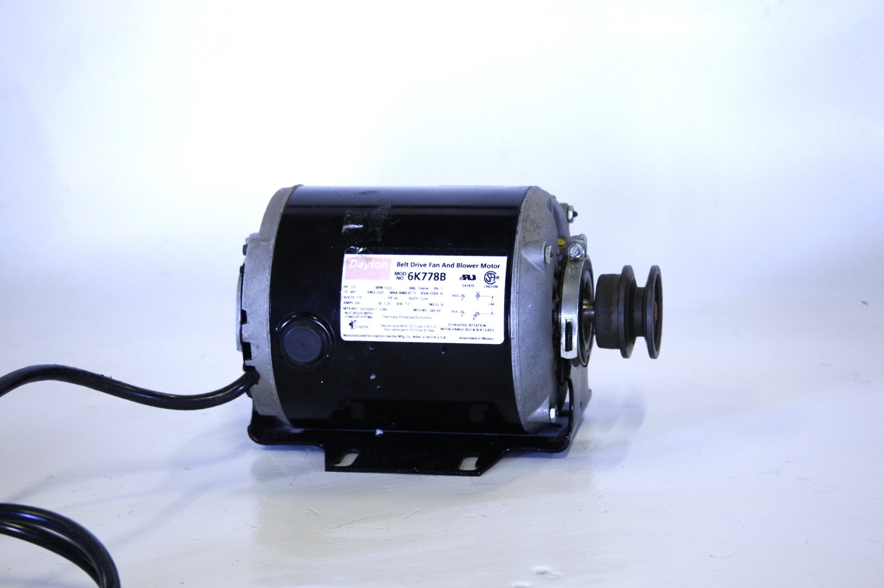 Dayton Belt Drive Fan Blower and Motor