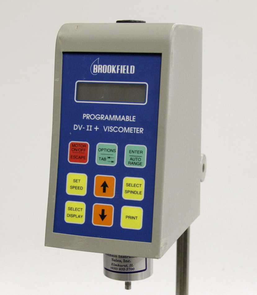 Brookfield Engineering Programmable DV II plus Viscometer