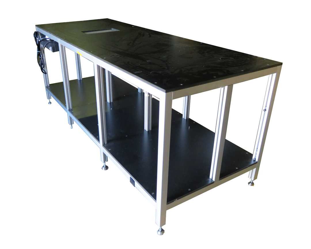 Heavy Duty table with t slotted aluminum extrusion framing