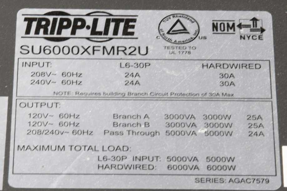 Tripp 6KVA Lite Stepdown Isolation Transformer - 2