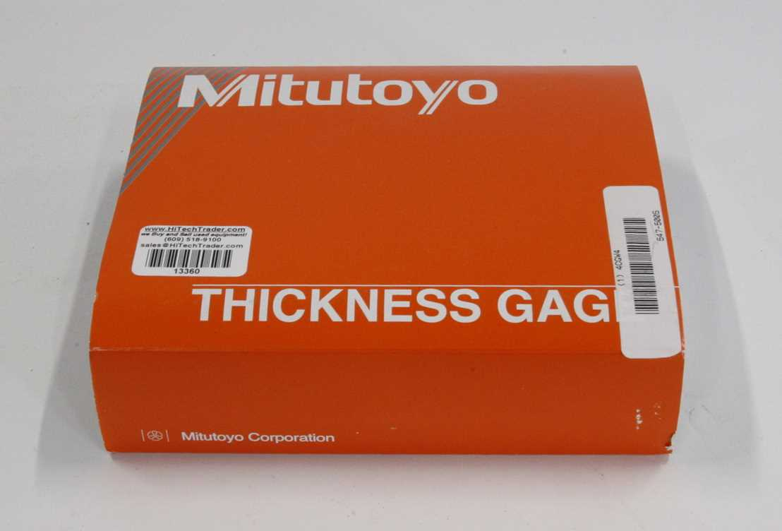 Mitutoyo Absolute Thickness Gauge – 2