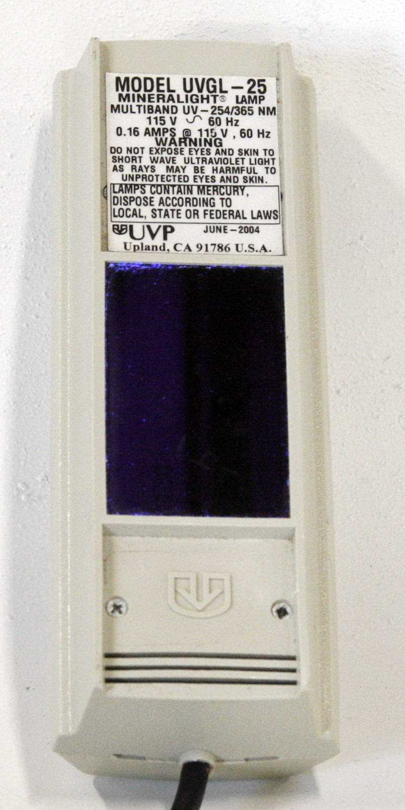 UVP UVGL-25 Mineralight Lamp