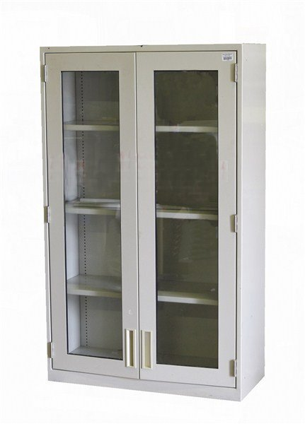 Fisher Lab Storage Cabinet with glass doors