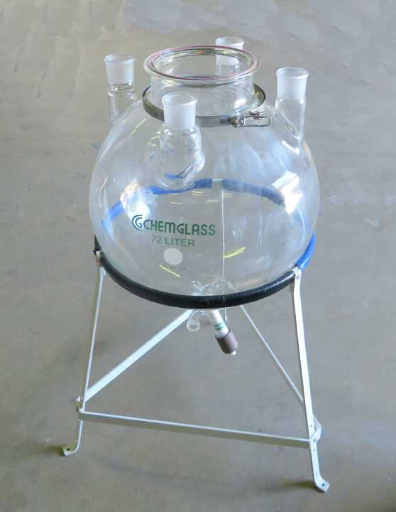 Chemglass 72000 ml Round Bottom Reaction Flask