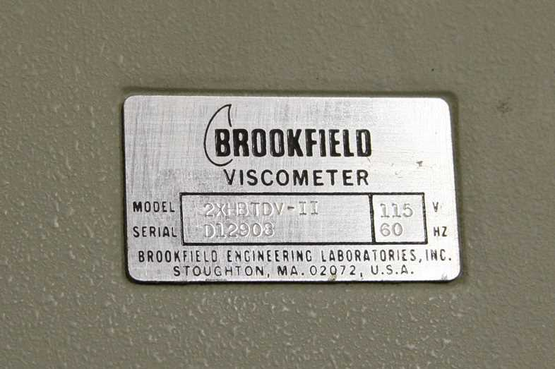 Brookfield DV-II Digital HBT Viscometer – 1