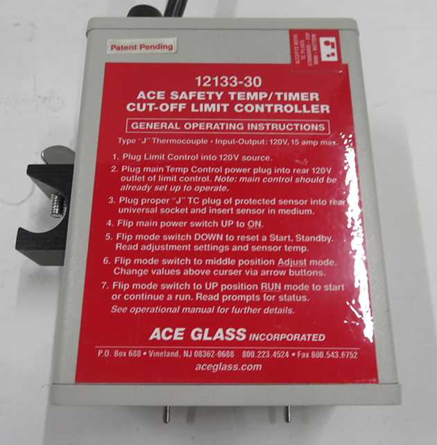 Ace Safety Temp-Timer Cut-Off Limit Controller - 2