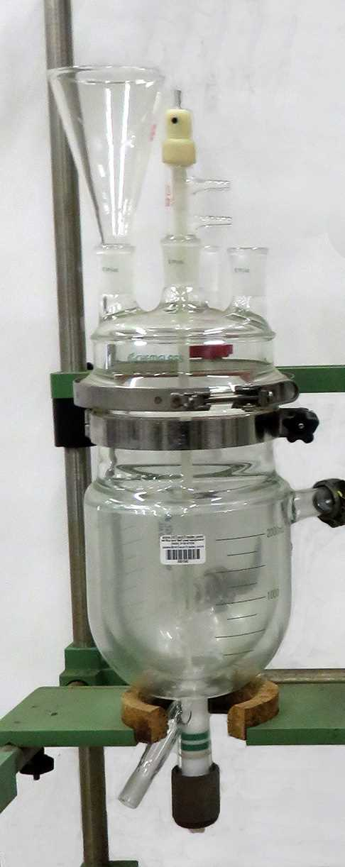 Chemglass 3 liter glass reactor