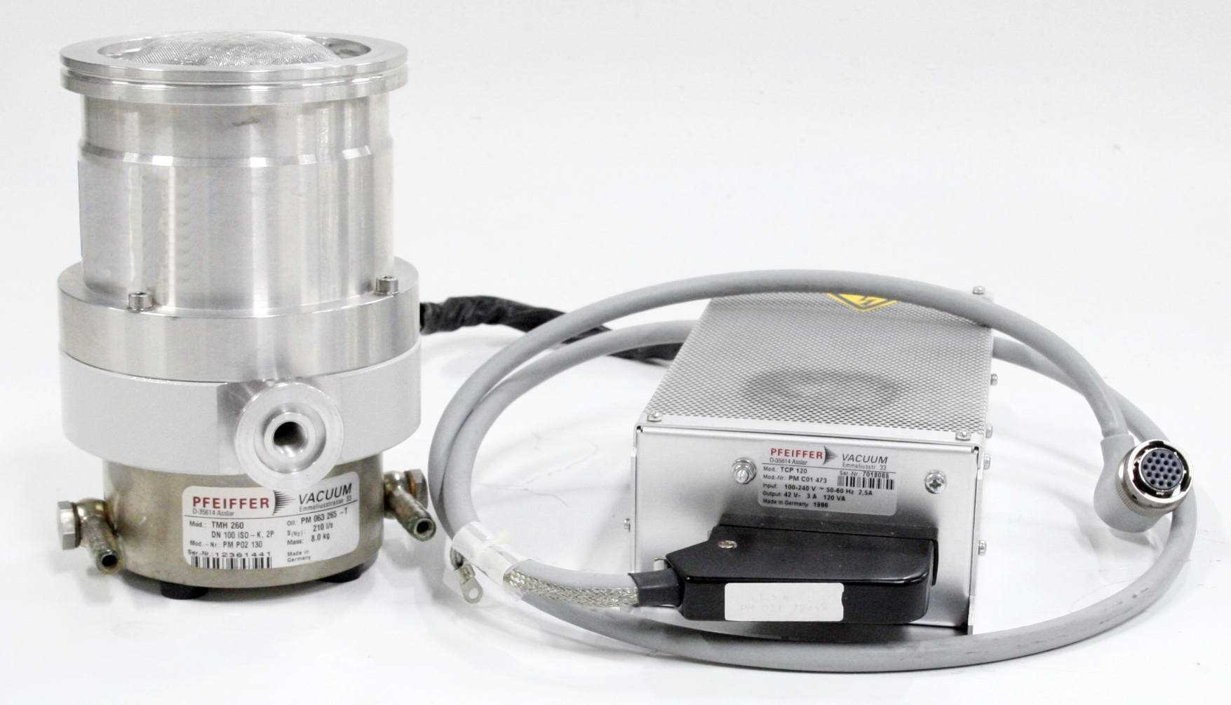 Pfeiffer Vacuum Turbo Pump TMH-260 with Controller TCP-120