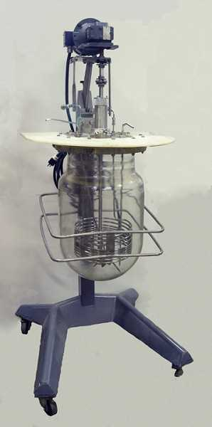 Photo of a glass reactor for sale from Hittechtrader.com