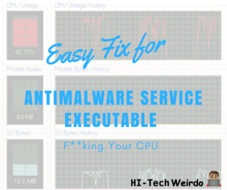 Easy Fix For Antimalware Service Executable F**king Your CPU