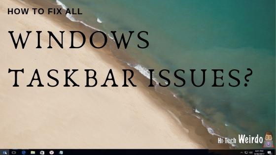 fix windows taskbar not working