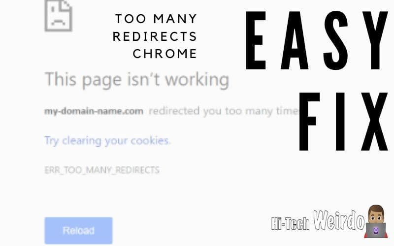Too many rediects chrome error fix