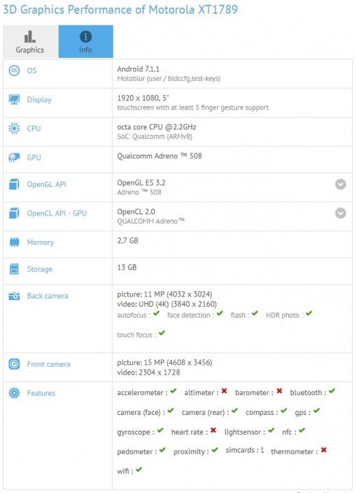 Moto X4 benchmark 1