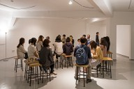 Casting Quinte 2014 sound performance 5 voices in 6 movements 20 min Photograph of audience during live performance