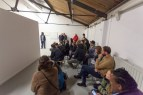 Casting Trio 2014 sound performance 3 voices in 6 movements 15 min Photograph of audience during live performance