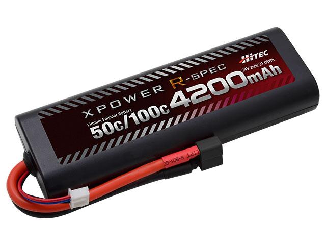 XPOWER R-SPEC Li-Po 7.4V 4200mAh 50C/100C T型 ディーンズコネクター