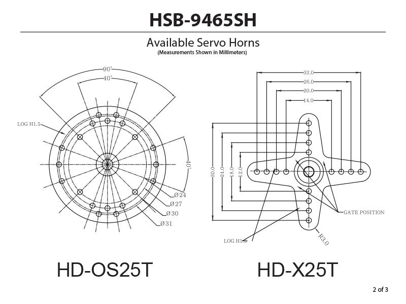 HSB-9485SH High Torque, Brushless, Steel Gear Servo