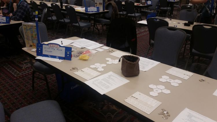Bee Lives set up at PAX Unplugged Unpub event
