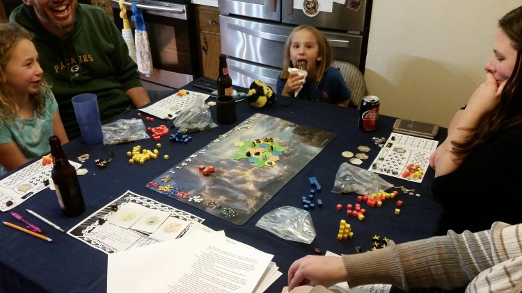 Playtesting Bee Lives We Will Only Know Summer with two adults and two children