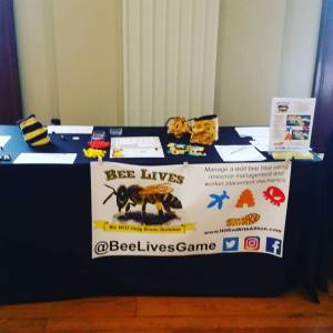 The Bee Lives table at the Philadelphia Bee Keepers Symposium