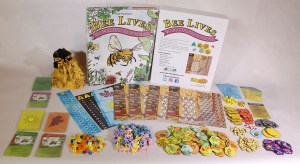 Contents of game box for Bee Lives We Will Only Know Summer